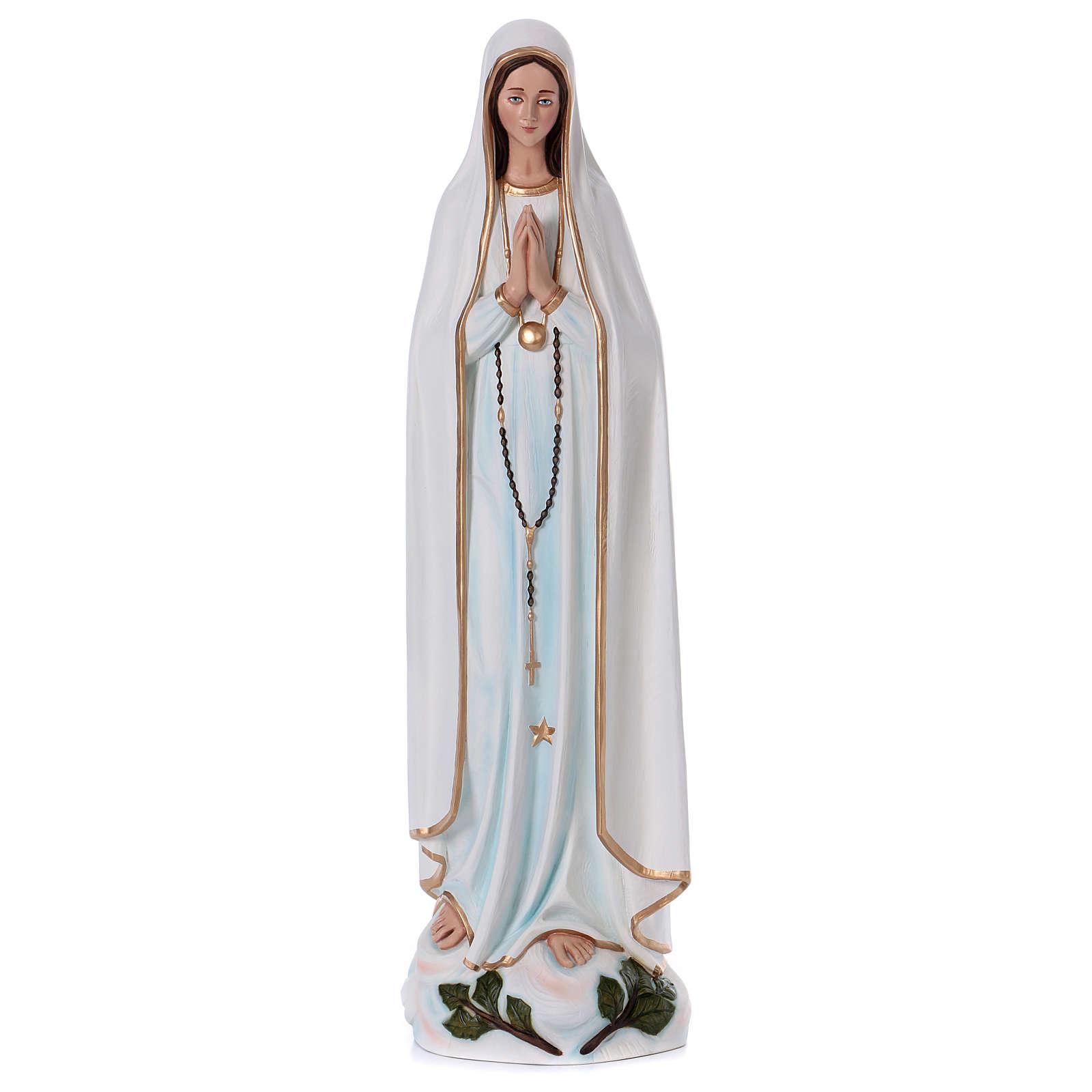 Virgen de Fátima 100 cm. fibra de vidrio coloreada 4
