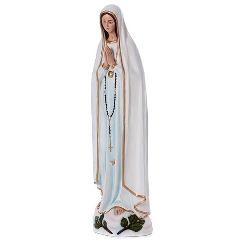 Virgen de Fátima 100 cm. fibra de vidrio coloreada 3