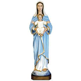 Vierge à l'enfant fibre de verre peinte 80cm s1