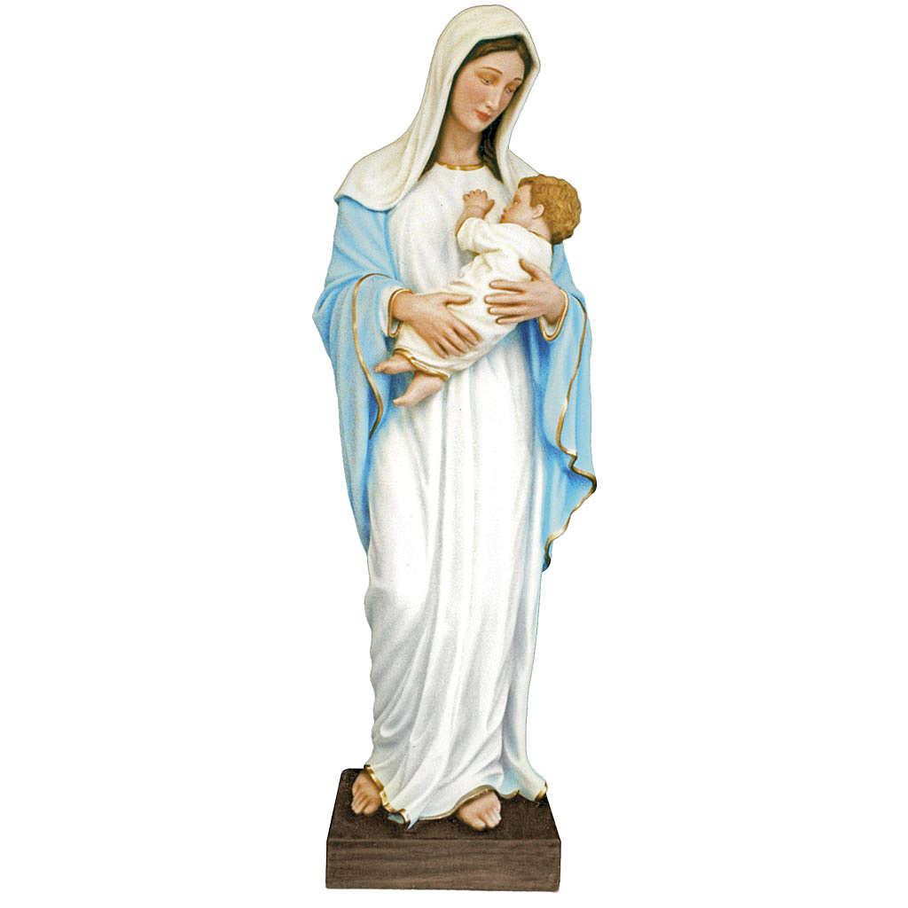 Vierge à l'enfant fibre de verre colorée 170cm 4