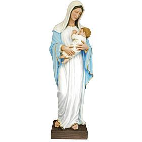 Vierge à l'enfant fibre de verre colorée 170cm s1