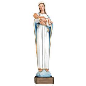 Virgen con Niño 80 cm. fibra de vidrio s1
