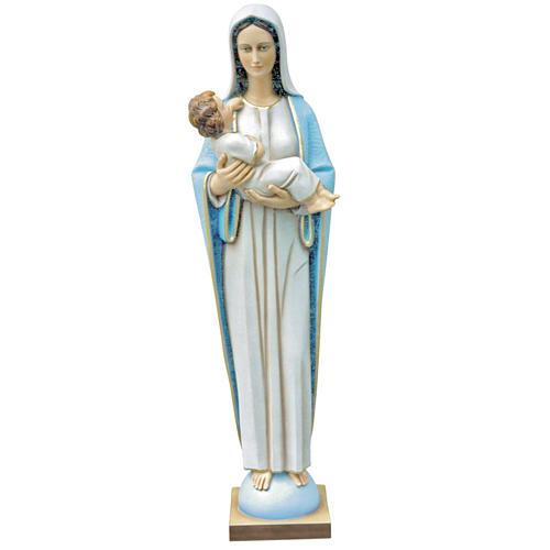 Virgen con Niño 115 cm. fibra de vidrio 1
