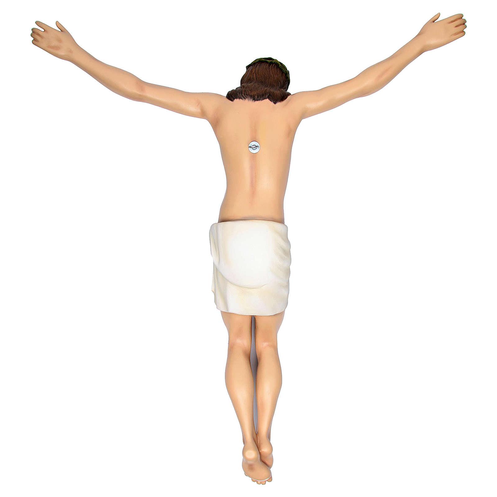 Cuerpo de Cristo 90 cm. fibra de vidrio coloreada 4