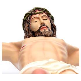Cuerpo de Cristo 90 cm. fibra de vidrio coloreada s4