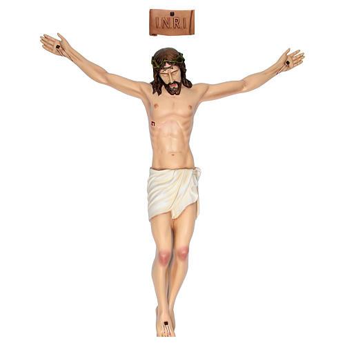 Cuerpo de Cristo 90 cm. fibra de vidrio coloreada 1