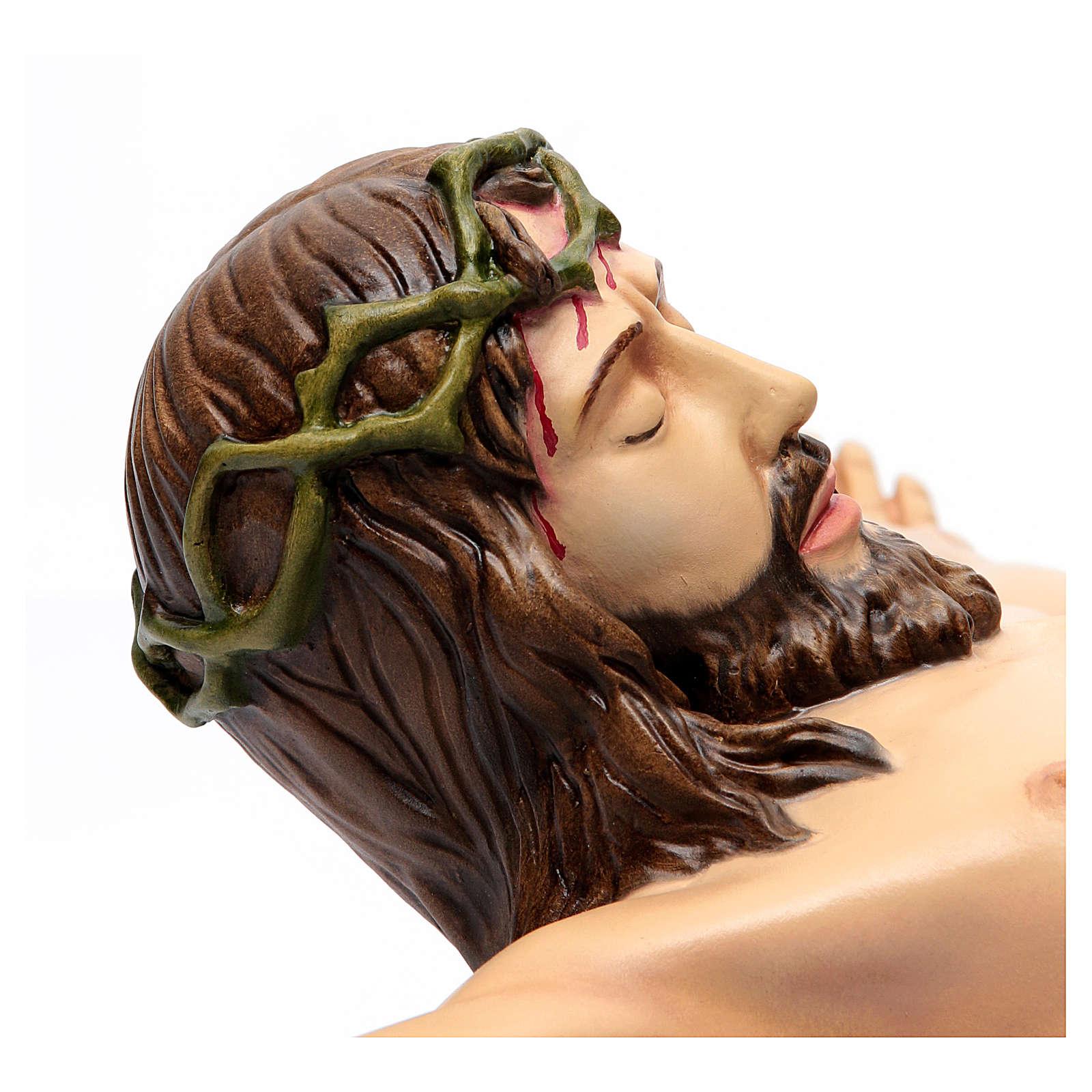 Corpo di Cristo 90 cm in vetroresina dipinta 4