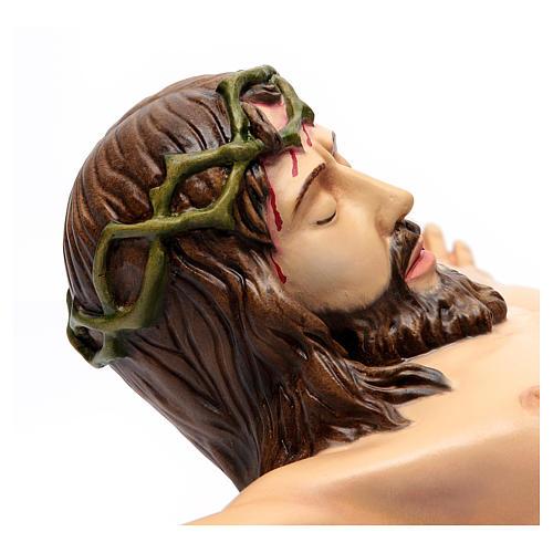 Corpo di Cristo 90 cm in vetroresina dipinta 3
