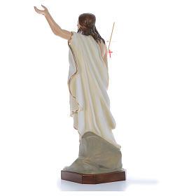 Cristo Resucitado 130 cm belén fibra de vidrio coloreada s4