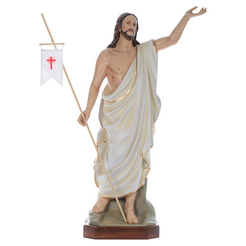 Cristo Resucitado 130 cm belén fibra de vidrio coloreada