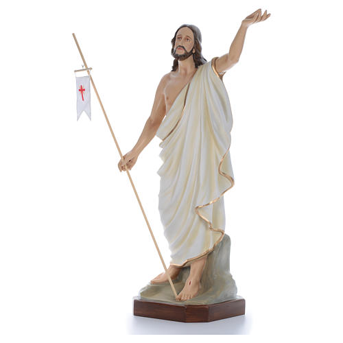 Cristo Resucitado 130 cm belén fibra de vidrio coloreada 2