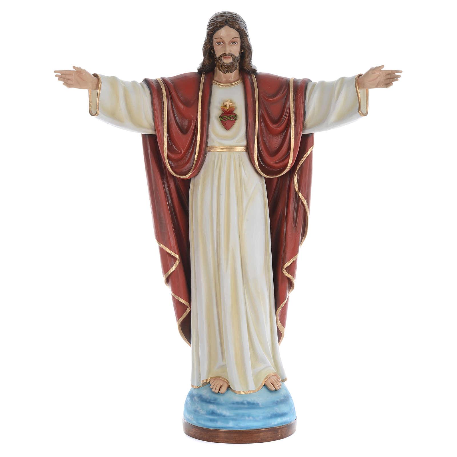 Cristo Redentor 160 cm belén fibra de vidrio coloreada 4