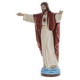 Cristo Redentor 160 cm belén fibra de vidrio coloreada s2