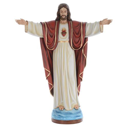 Cristo Redentor 160 cm belén fibra de vidrio coloreada 1