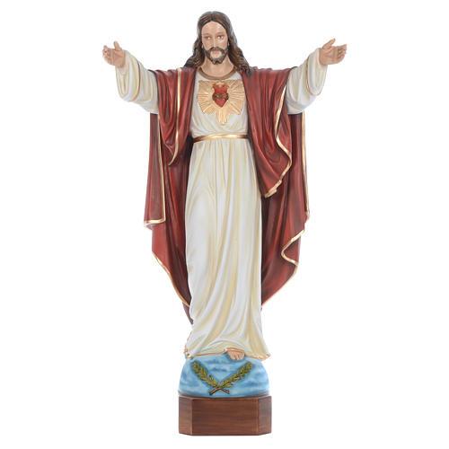 Cristo Redentor 100 cm belén fibra de vidrio coloreada 1