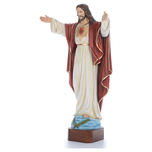 Cristo Redentor 100 cm belén fibra de vidrio coloreada 2