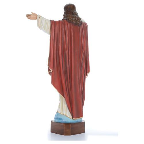 Cristo Redentor 100 cm belén fibra de vidrio coloreada 4
