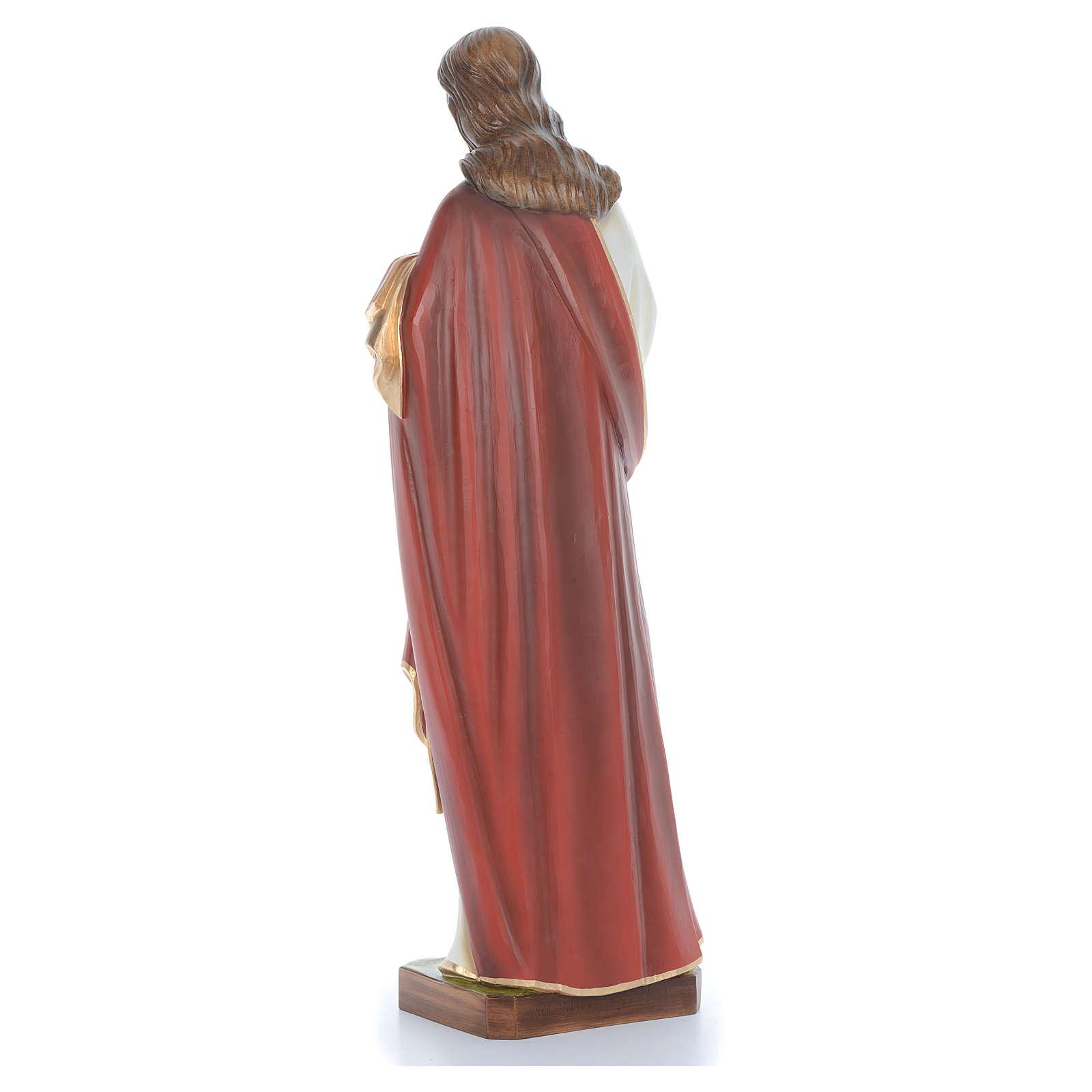 Cristo bendecidor 100 cm belén fibra de vidrio coloreada 4