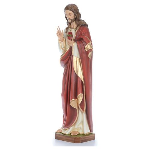 Cristo bendecidor 100 cm belén fibra de vidrio coloreada 2