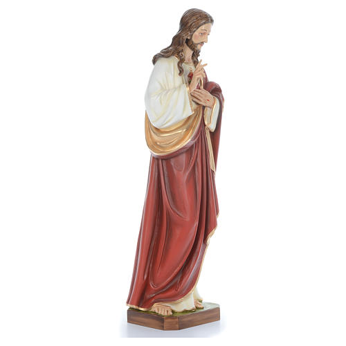 Cristo bendecidor 100 cm belén fibra de vidrio coloreada 3