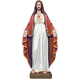 Gesù Mani aperte 130 cm fiberglass colorata s1