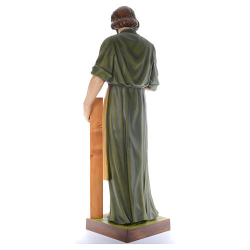 San José Obrero con niño 150 cm belén fibra de vidrio coloreada 3
