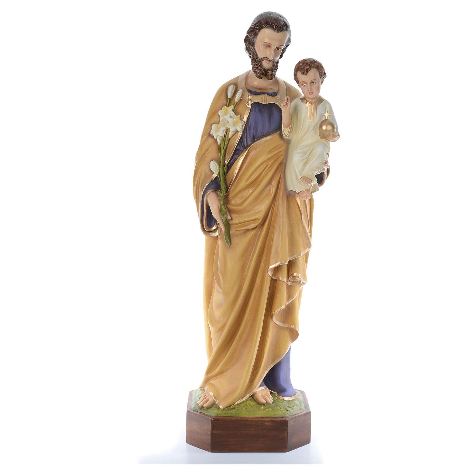 San Giuseppe lavoratore con bimbo 130 cm fiberglass 4