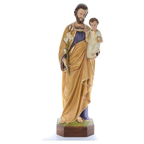 San Giuseppe lavoratore con bimbo 130 cm fiberglass 1