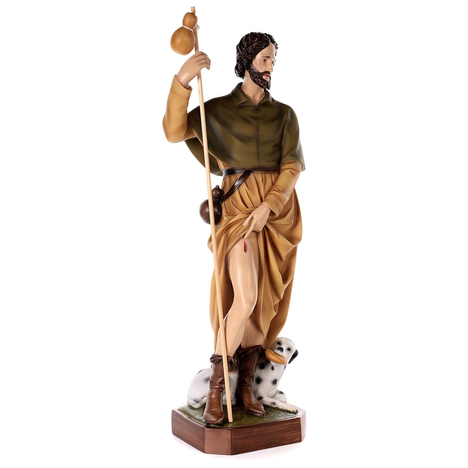 Saint Roch, statue in painted fiberglass, 100cm 4