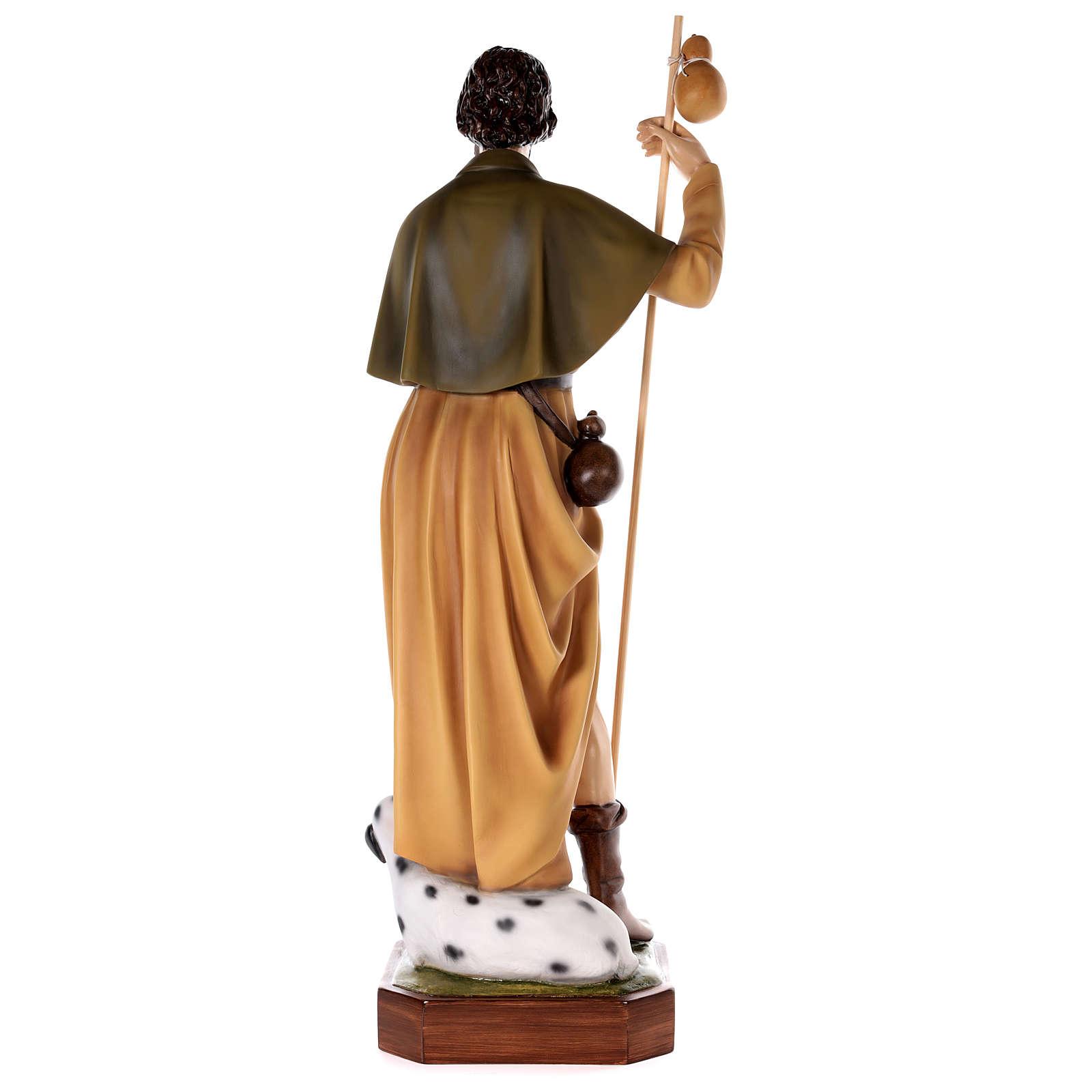 Statue Saint Roch fibre de verre peinte 100cm 4
