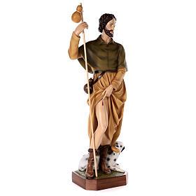 Statue Saint Roch fibre de verre peinte 100cm s5