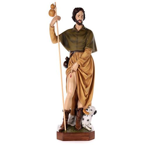 Statue Saint Roch fibre de verre peinte 100cm 1