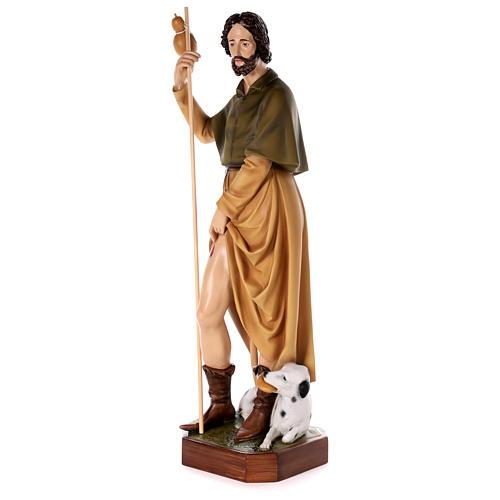 Statue Saint Roch fibre de verre peinte 100cm 3