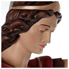 San Miguel Arcángel 180 cm belén fibra de vidrio coloreada s3