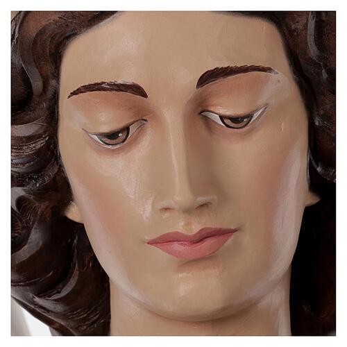 San Miguel Arcángel 180 cm belén fibra de vidrio coloreada 10
