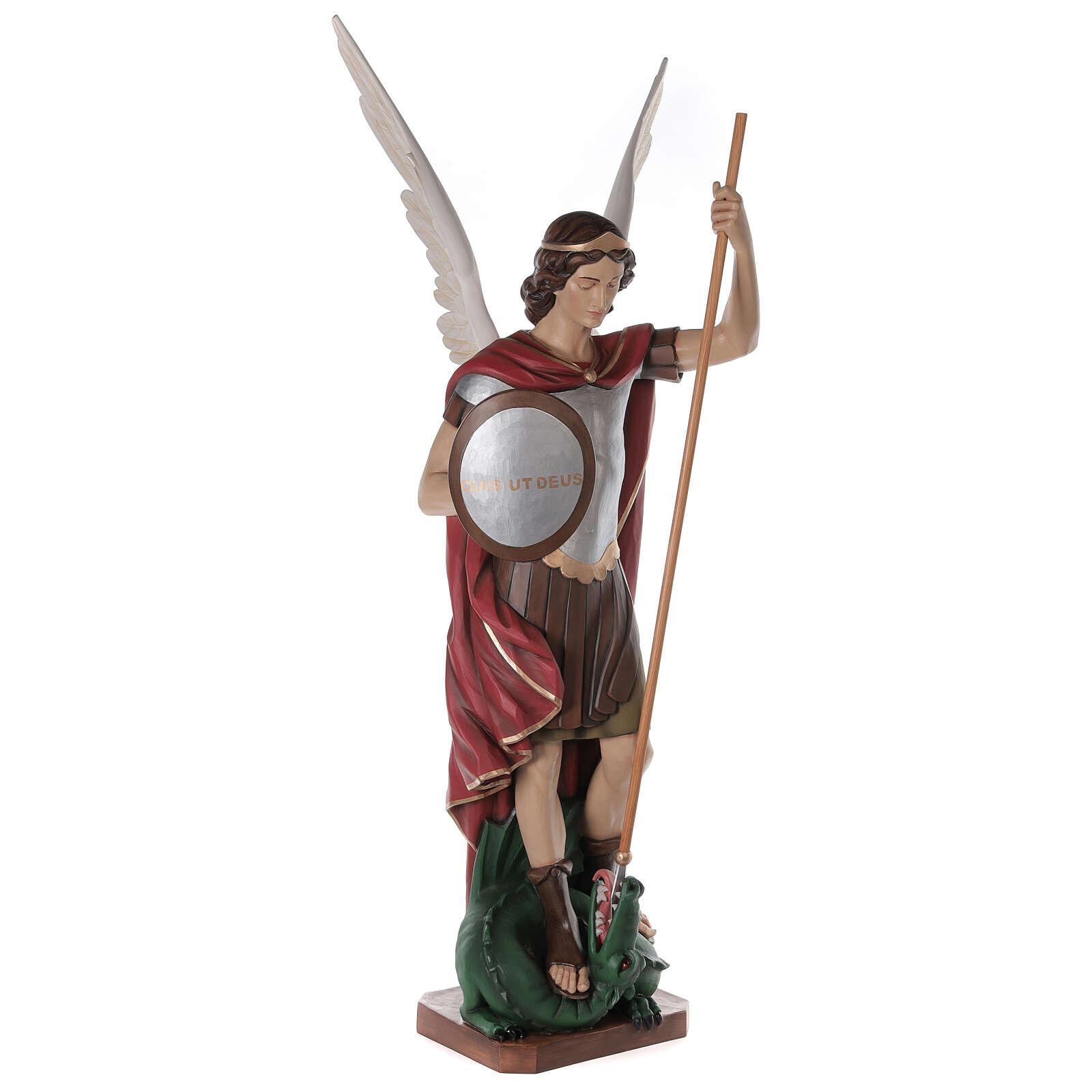 Saint Michel Archange fibre de verre peint 180cm 4
