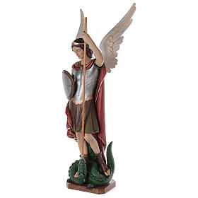 San Michele Arcangelo 180 cm vetroresina dipinta s4