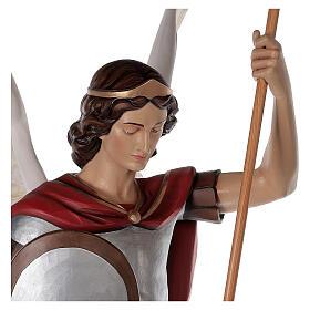 Saint Michael archangel, statue in painted fiberglass, 180cm s6