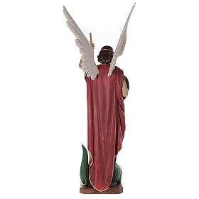 Saint Michael archangel, statue in painted fiberglass, 180cm s12