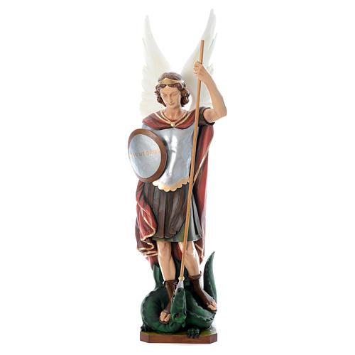 72e46df6 Saint Michael archangel, statue in painted fiberglass, 180cm ...