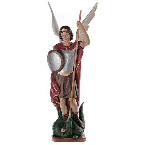 Saint Michael archangel, statue in painted fiberglass, 180cm 1