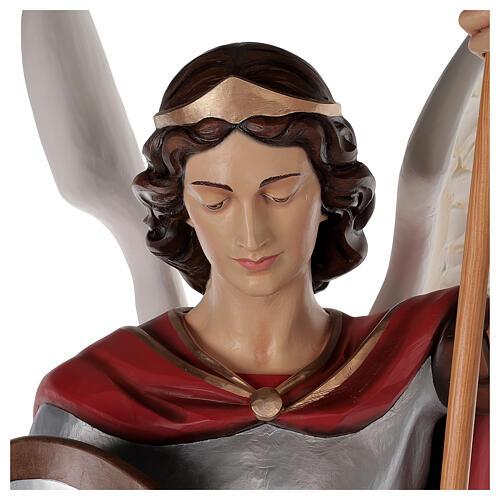 Saint Michael archangel, statue in painted fiberglass, 180cm 2