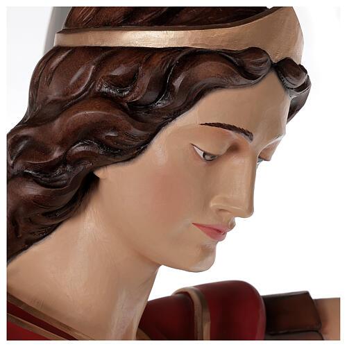 Saint Michael archangel, statue in painted fiberglass, 180cm 3