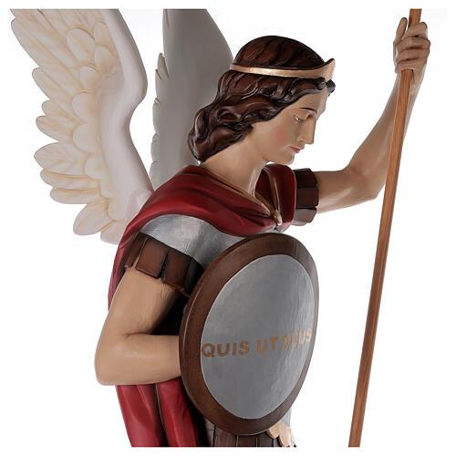 Saint Michael archangel, statue in painted fiberglass, 180cm 9