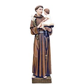 Saint Anthony of Padua, statue in painted fiberglass, 65cm s1