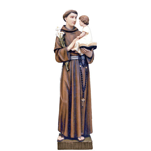 Saint Anthony of Padua, statue in painted fiberglass, 65cm 1