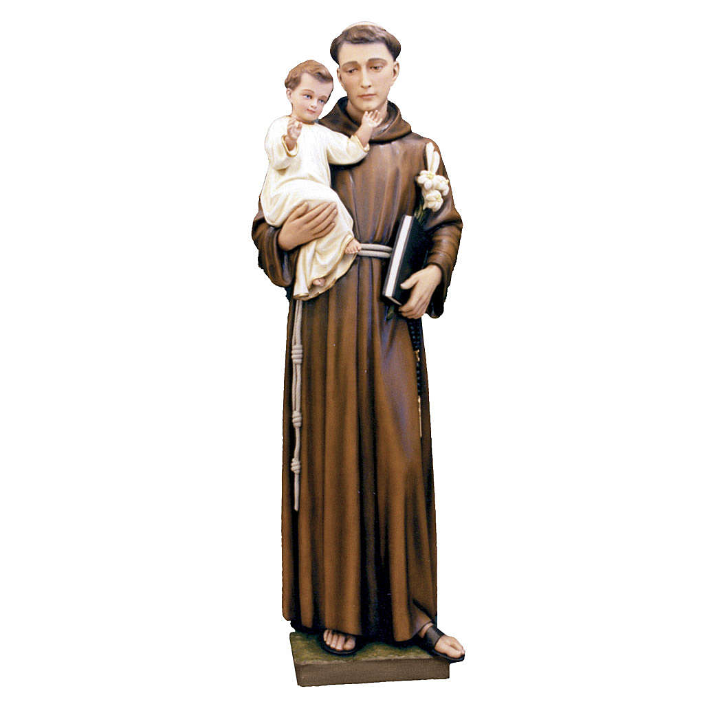Saint Anthony of Padua statue in painted fiberglass, 160cm 4