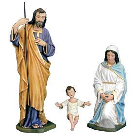 Classic Nativity scene statue in painted fiberglass, 100cm s1