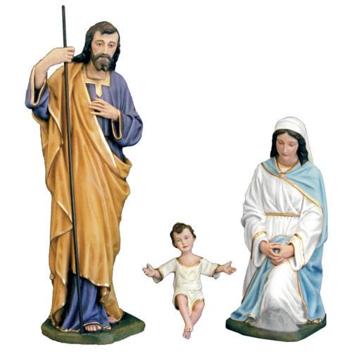 Classic Nativity scene statue in painted fiberglass, 100cm 1