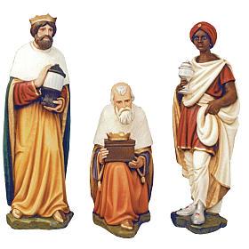 Three Wise Men, statue in painted fiberglass, 100cm s1